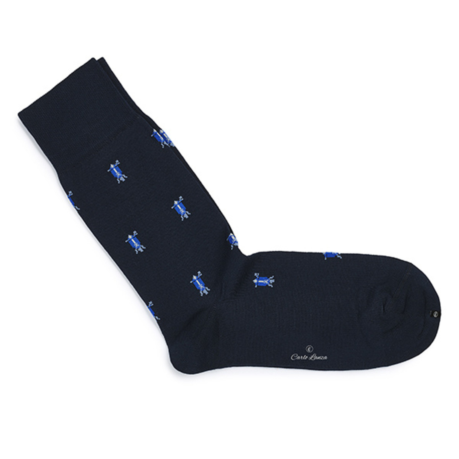 Carlo Lanza Blue Italian scooter socks
