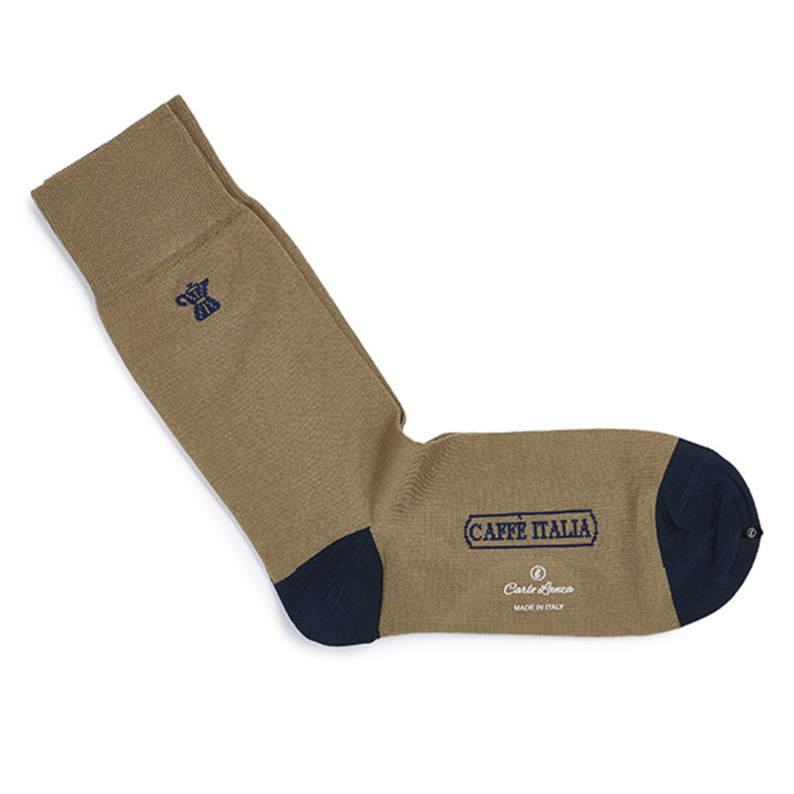 Carlo Lanza Darkbrown Italian coffee socks