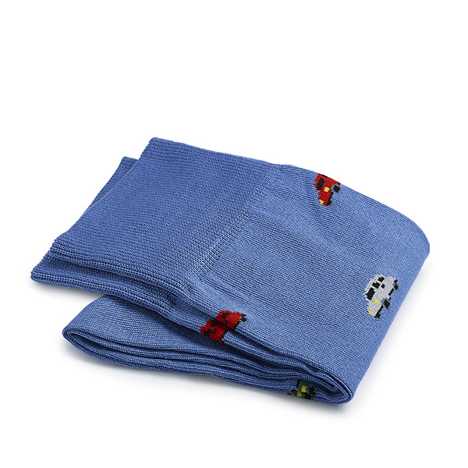 Carlo Lanza Hellblaue italienische Auto Socken Baumwolle