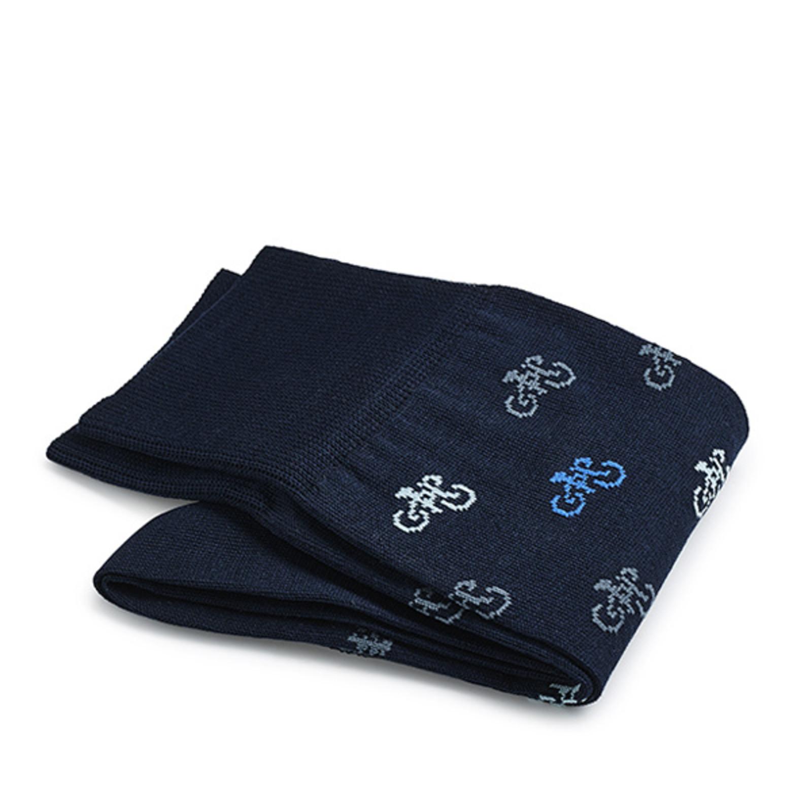 Carlo Lanza Darkblue Italian bike socks