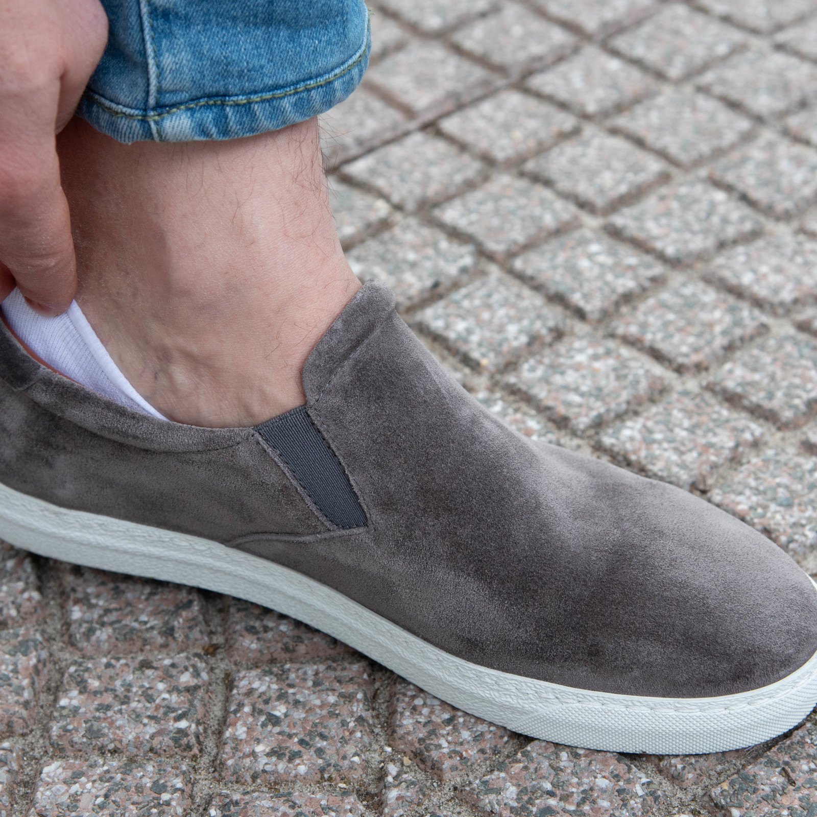 Carlo Lanza Witte no show sokken | Carlo Lanza