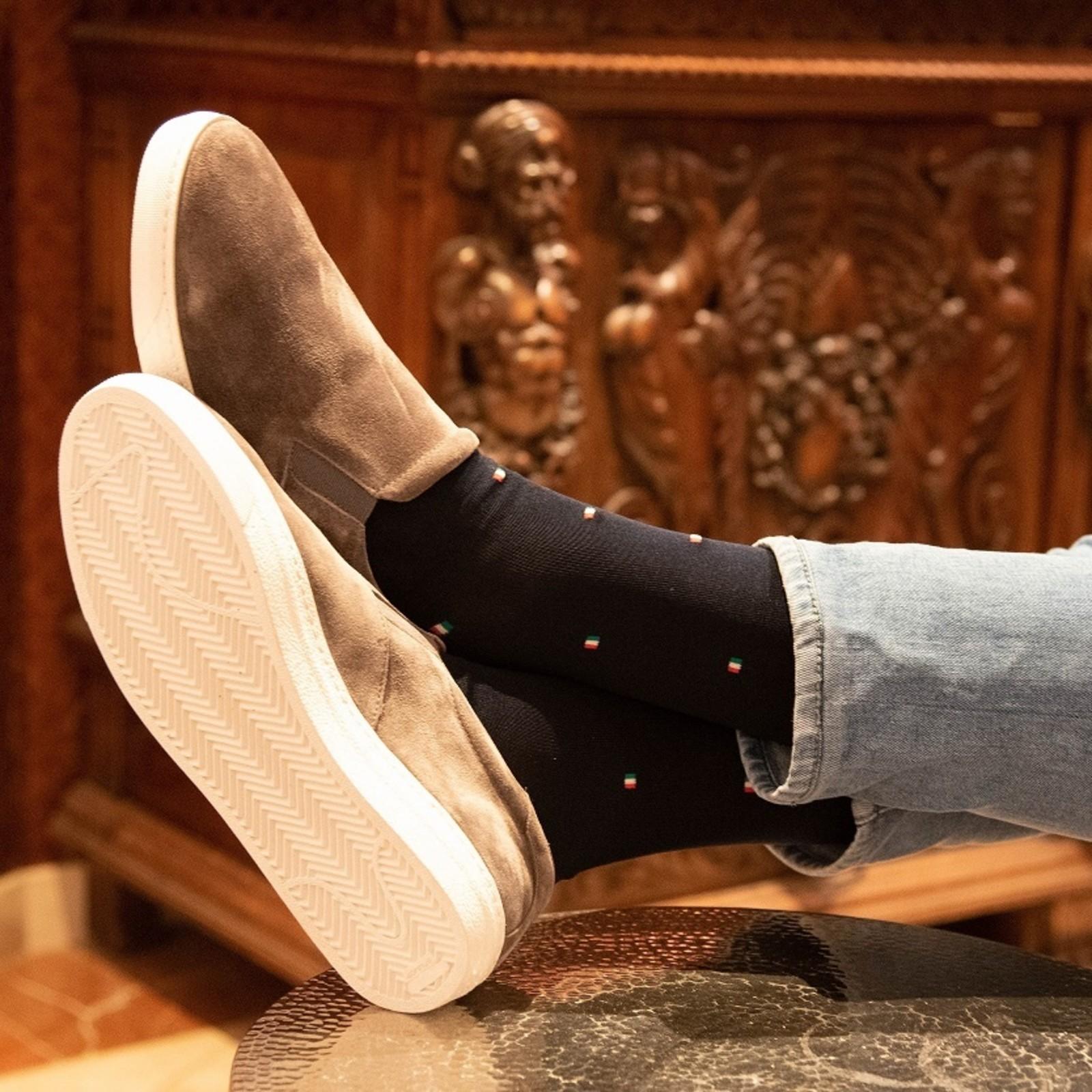 Carlo Lanza Italiaanse vlag sokken | Carlo Lanza