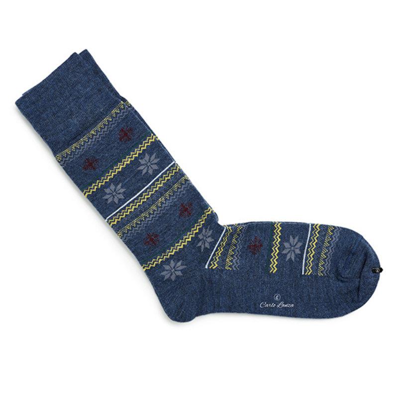 Winter sokken blauw   Carlo Lanza