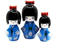 gelukssymbolen - kokeshi dolls
