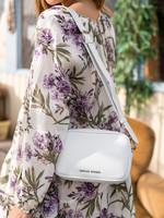 Denise Roobol Denise Roobol - Mini Messenger Bag White - Vegan