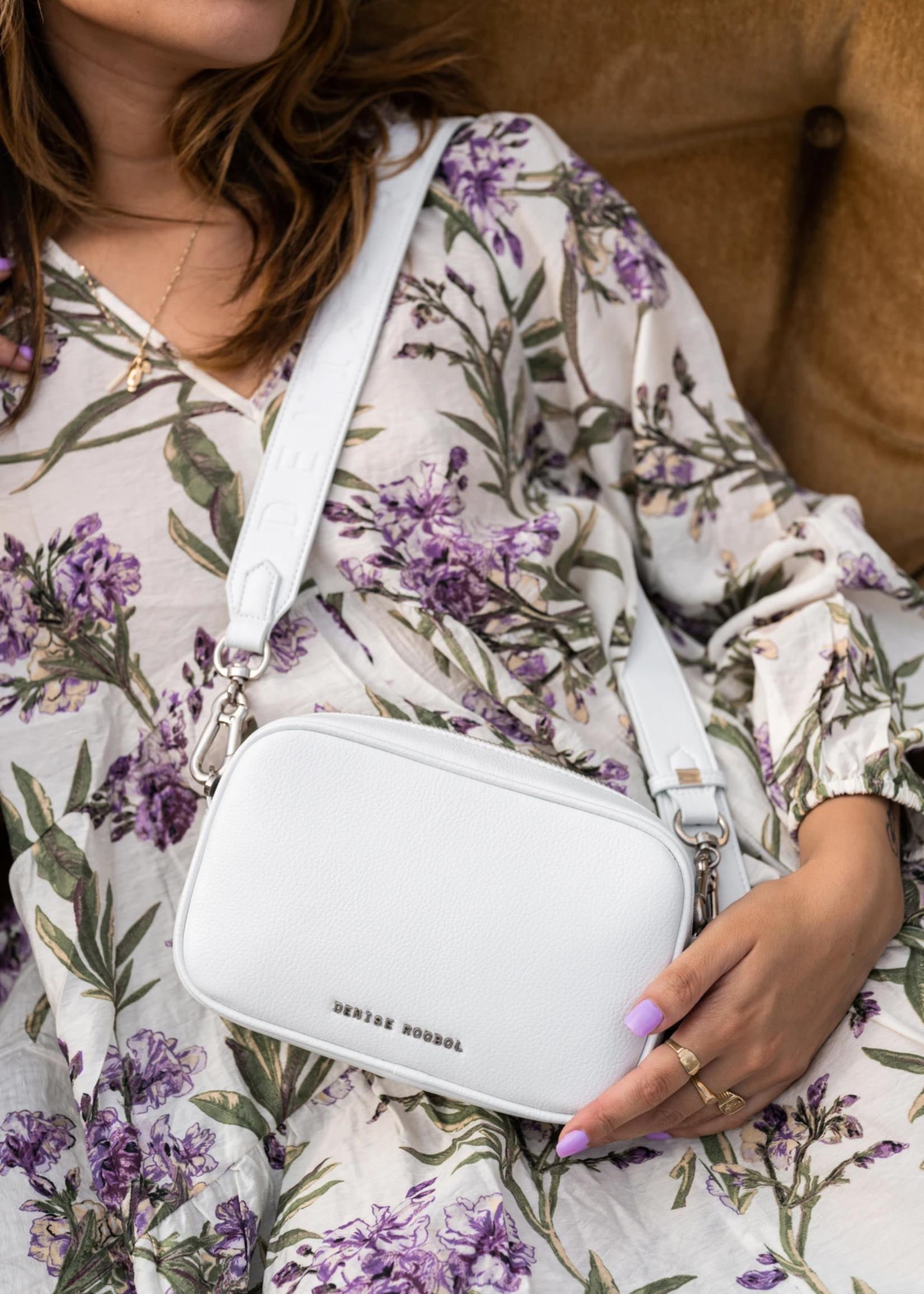 Denise Roobol Mini Messenger Bag White