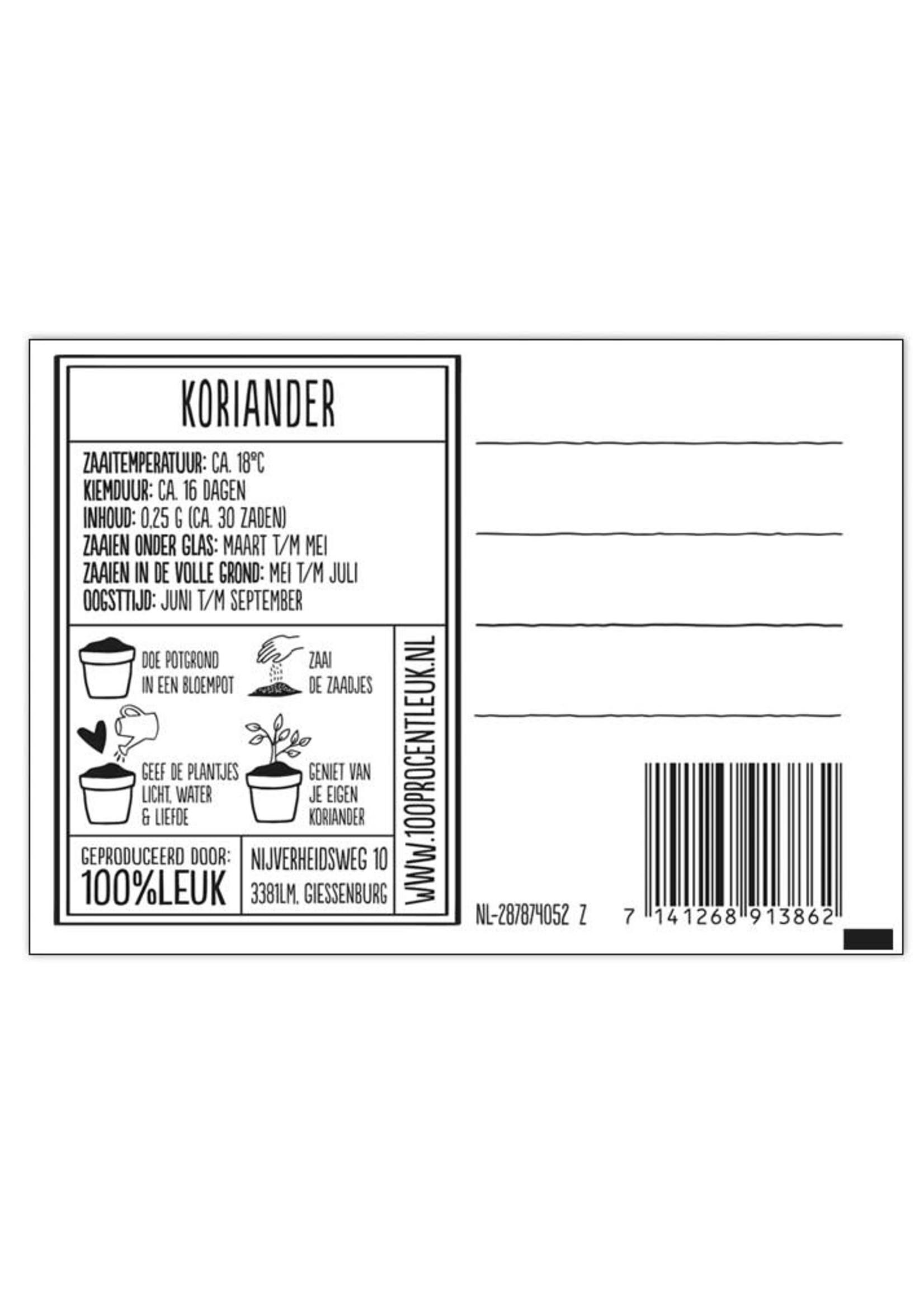 100%LEUK 100%LEUK - kruidenlijn - Koriander