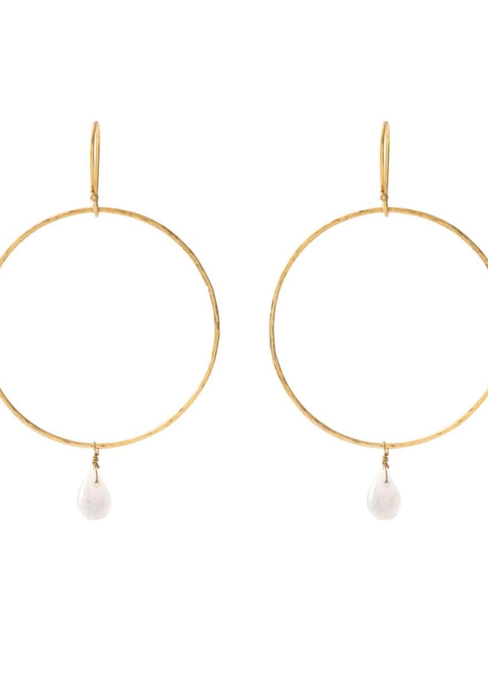 A Beautiful Story Embrace Moonstone Gold Earrings