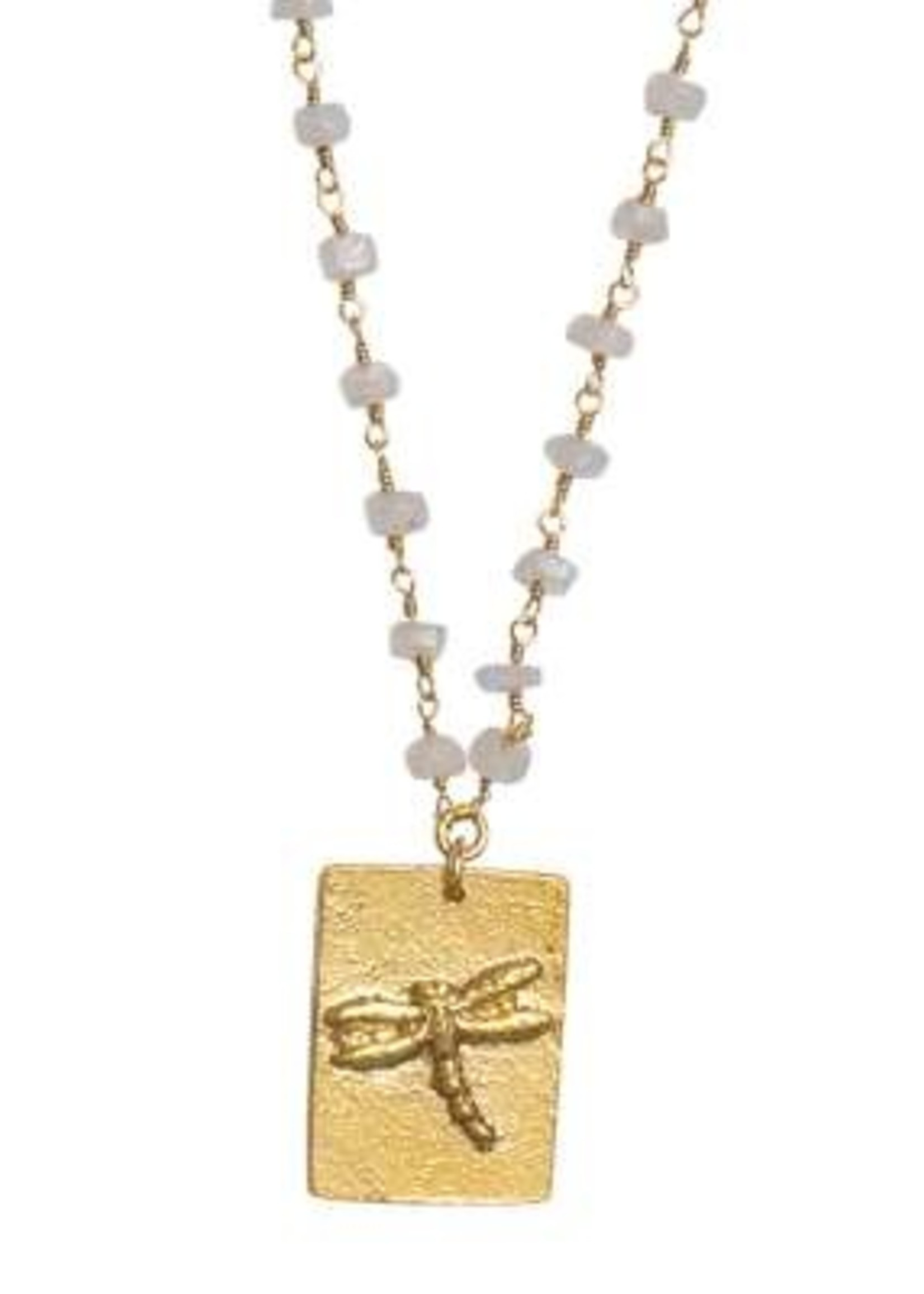 A Beautiful Story Radiate Moonstone Gold Necklace
