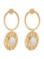 A Beautiful Story Thankful Moonstone Gold Earrings