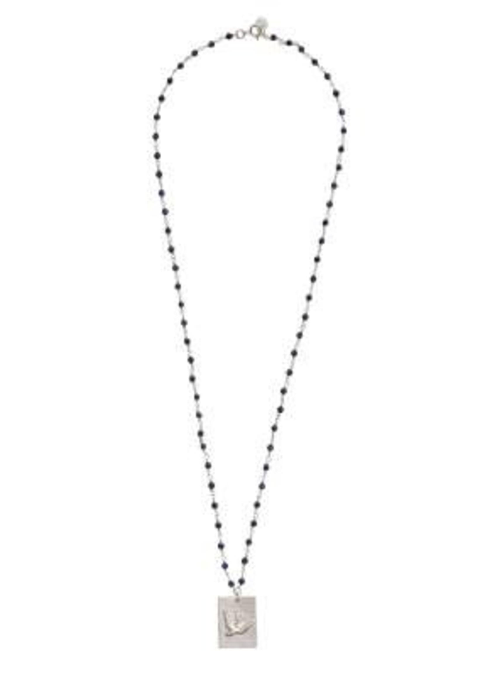 A Beautiful Story Radiate Lapis Lazuli Silver Necklace