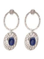 A Beautiful Story Thankful Lapis Lazuli Silver Earrings