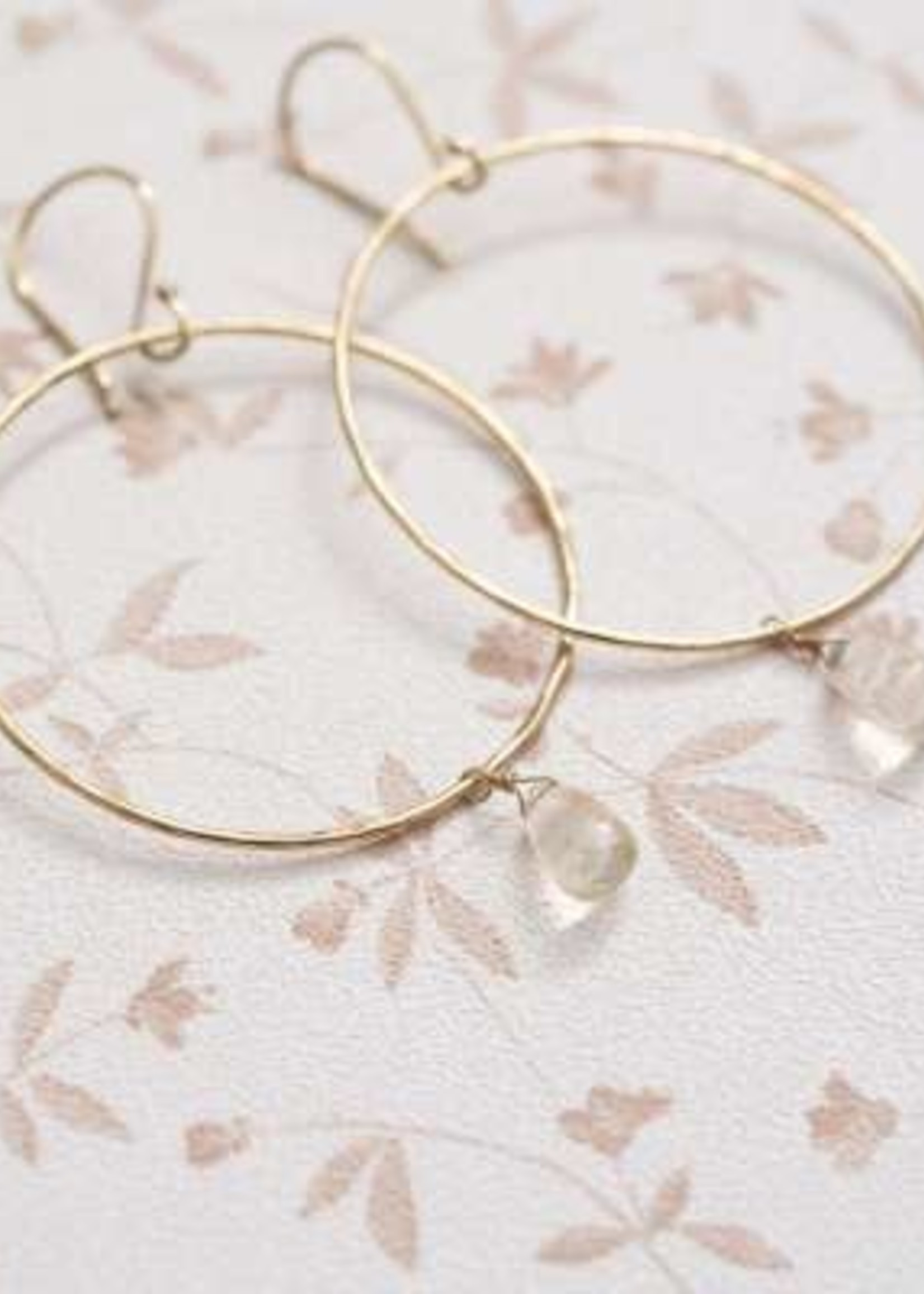 A Beautiful Story Embrace Citrine Gold Earrings