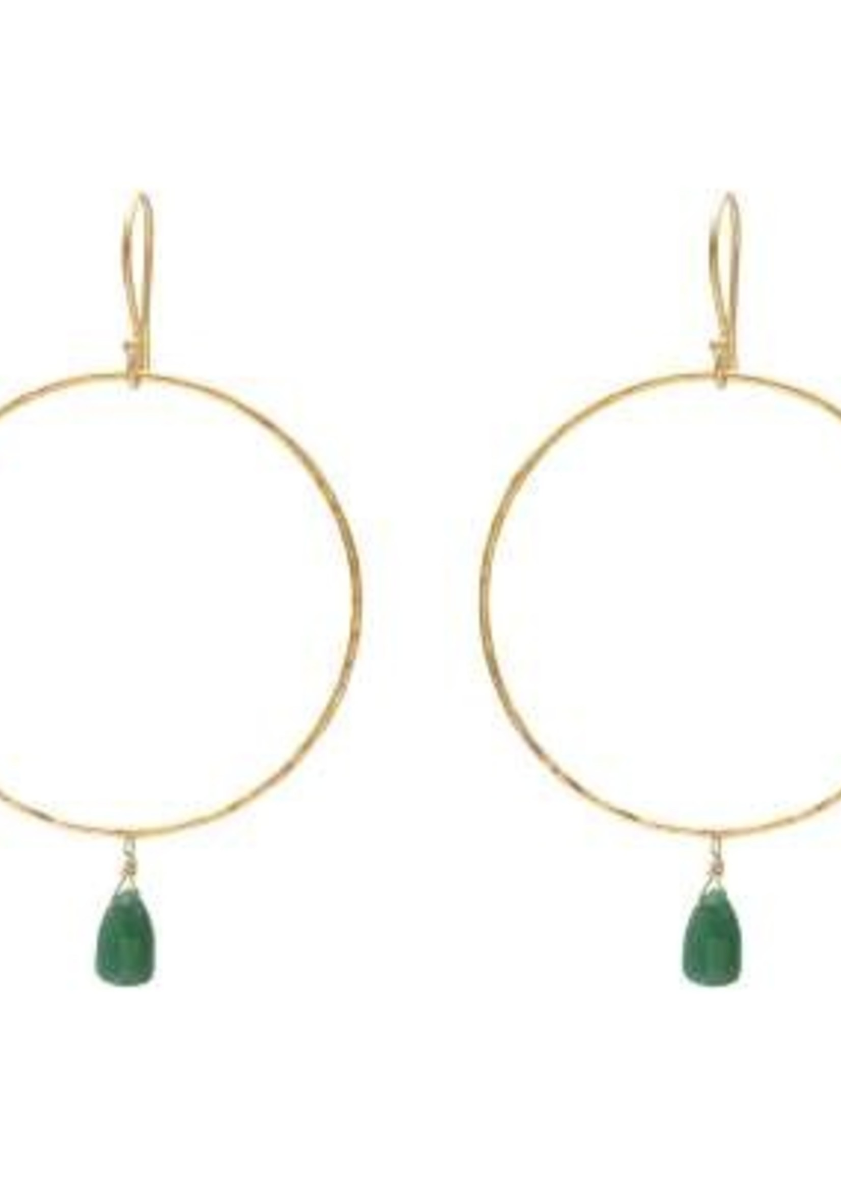 A Beautiful Story Embrace Aventurine Gold Earrings