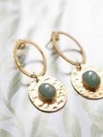 A Beautiful Story a Beautiful Story  Thankful Aventurine Gold Earrings