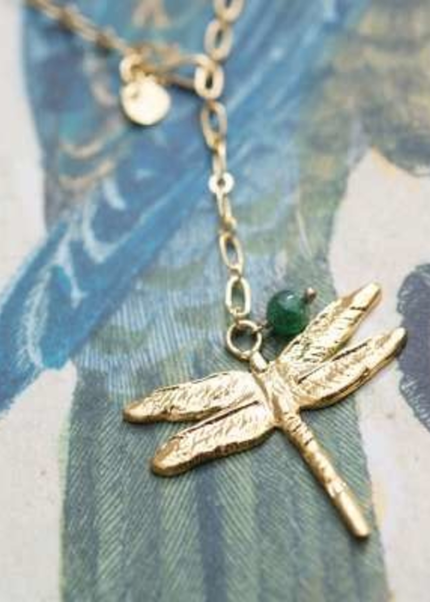 A Beautiful Story Comfort Aventurine Gold necklace