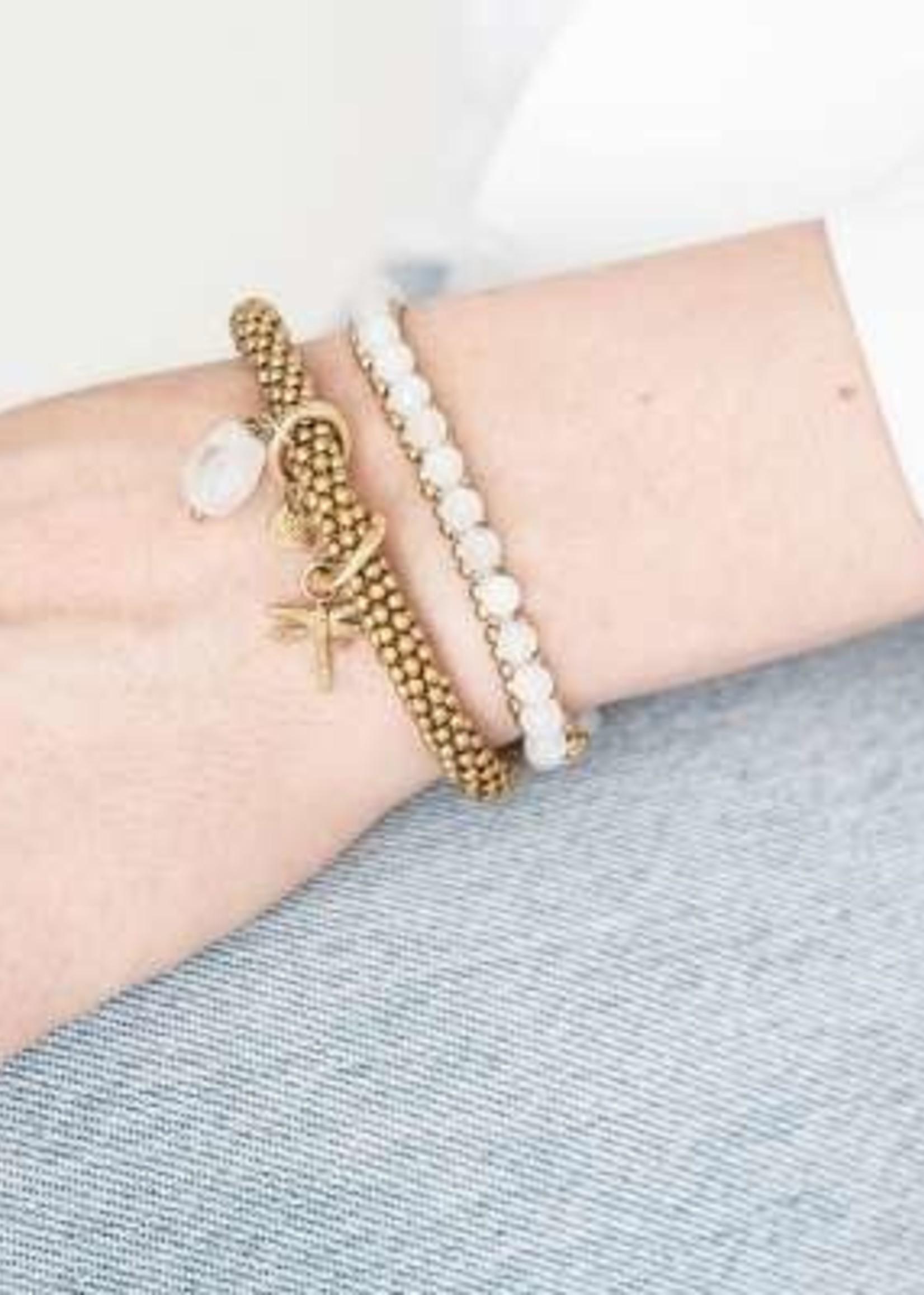 A Beautiful Story Jacky Moonstone Dragonfly Gold Bracelet