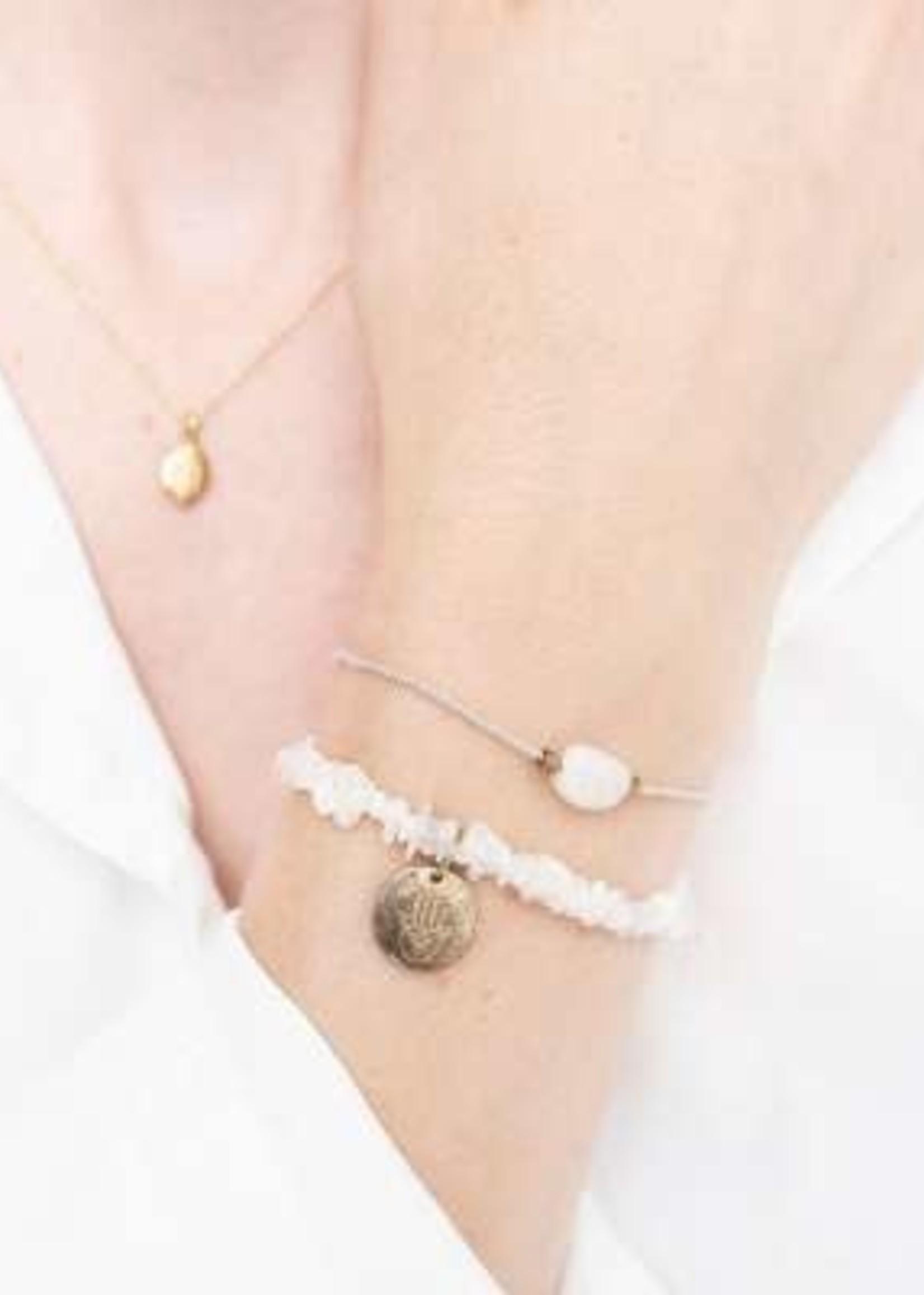 A Beautiful Story Gemstone Card Moonstone Gold Bracelet