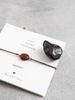 A Beautiful Story Gemstone Card Garnet Gold Bracelet