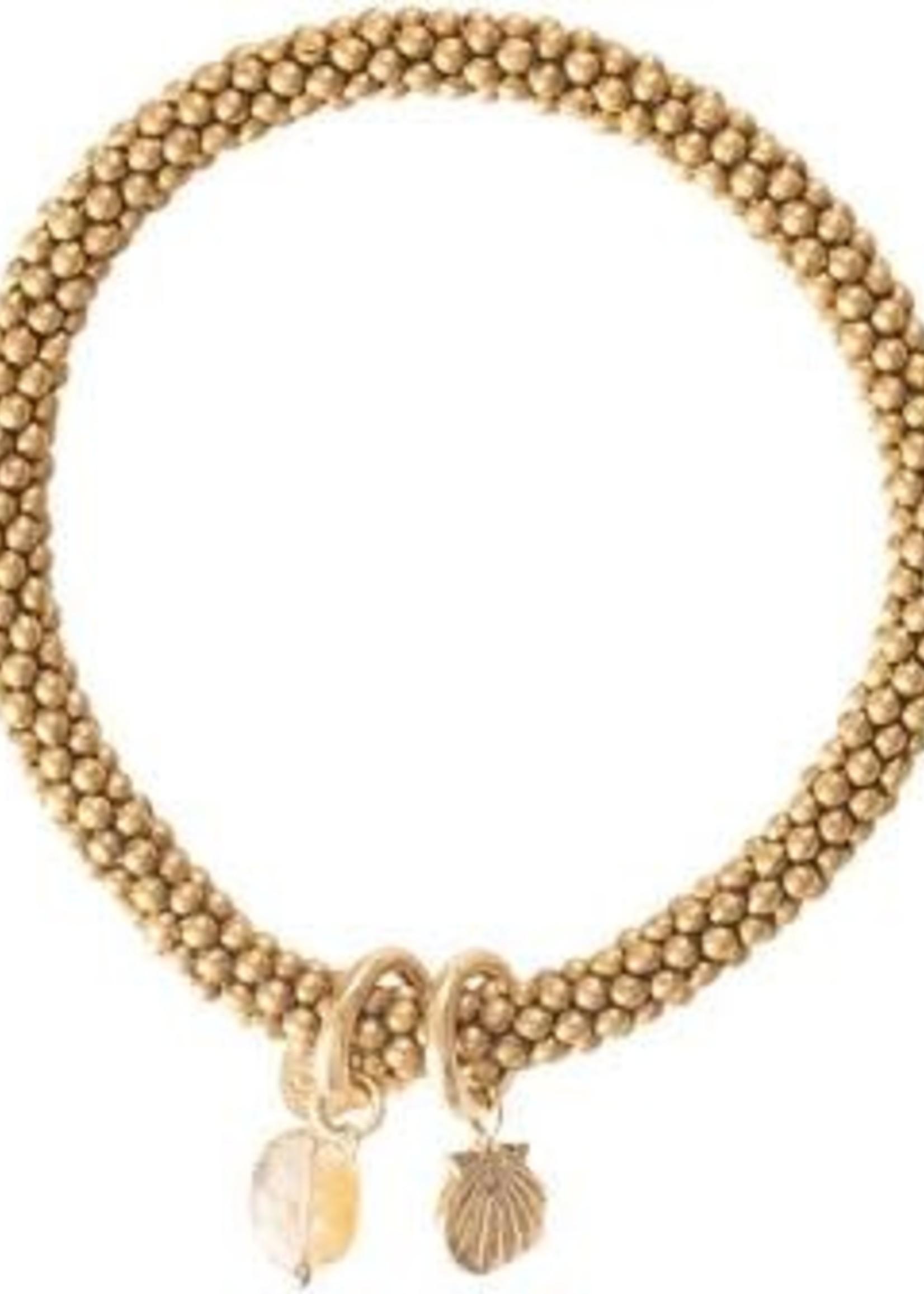 A Beautiful Story Jacky Citrine Shell Gold Bracelet