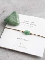 A Beautiful Story Gemstone Card Aventurine Gold Bracelet