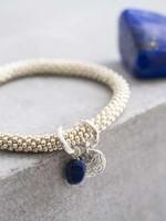 A Beautiful Story a Beautiful Story  Jacky Lapis Lazuli Butterfly zilver armband