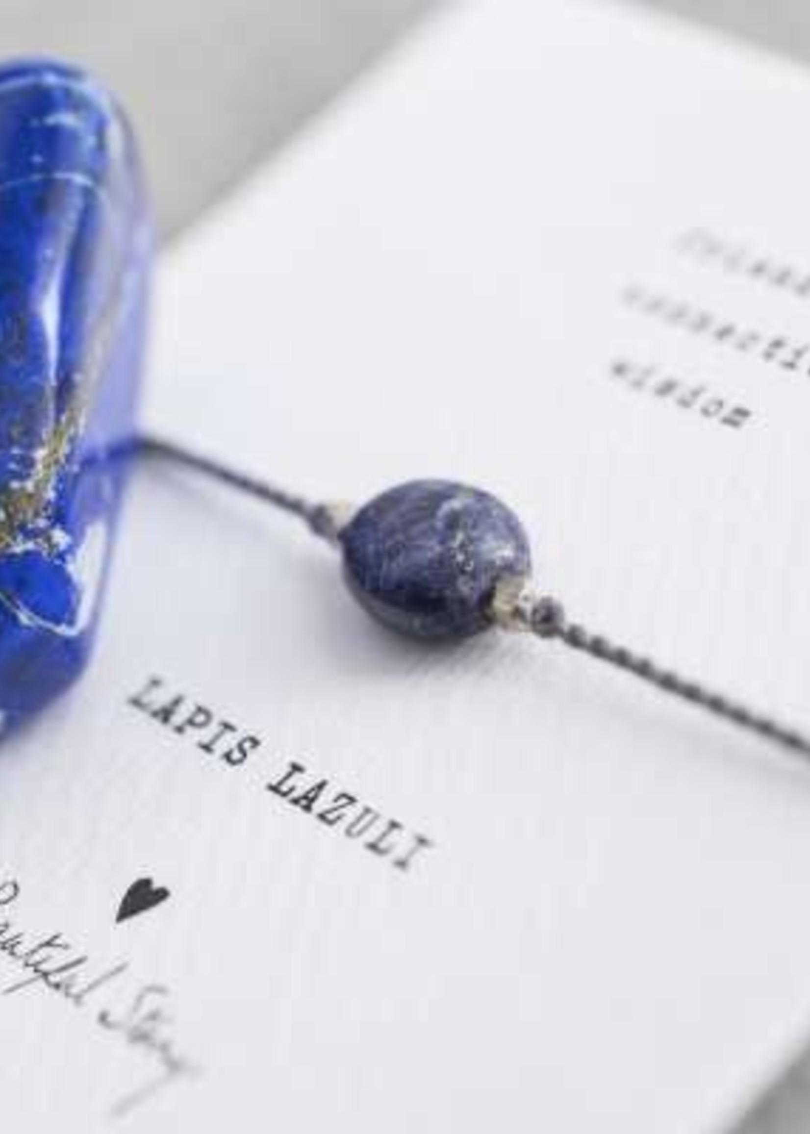 A Beautiful Story Gemstone Card Lapis Lazuli Silver Bracelet