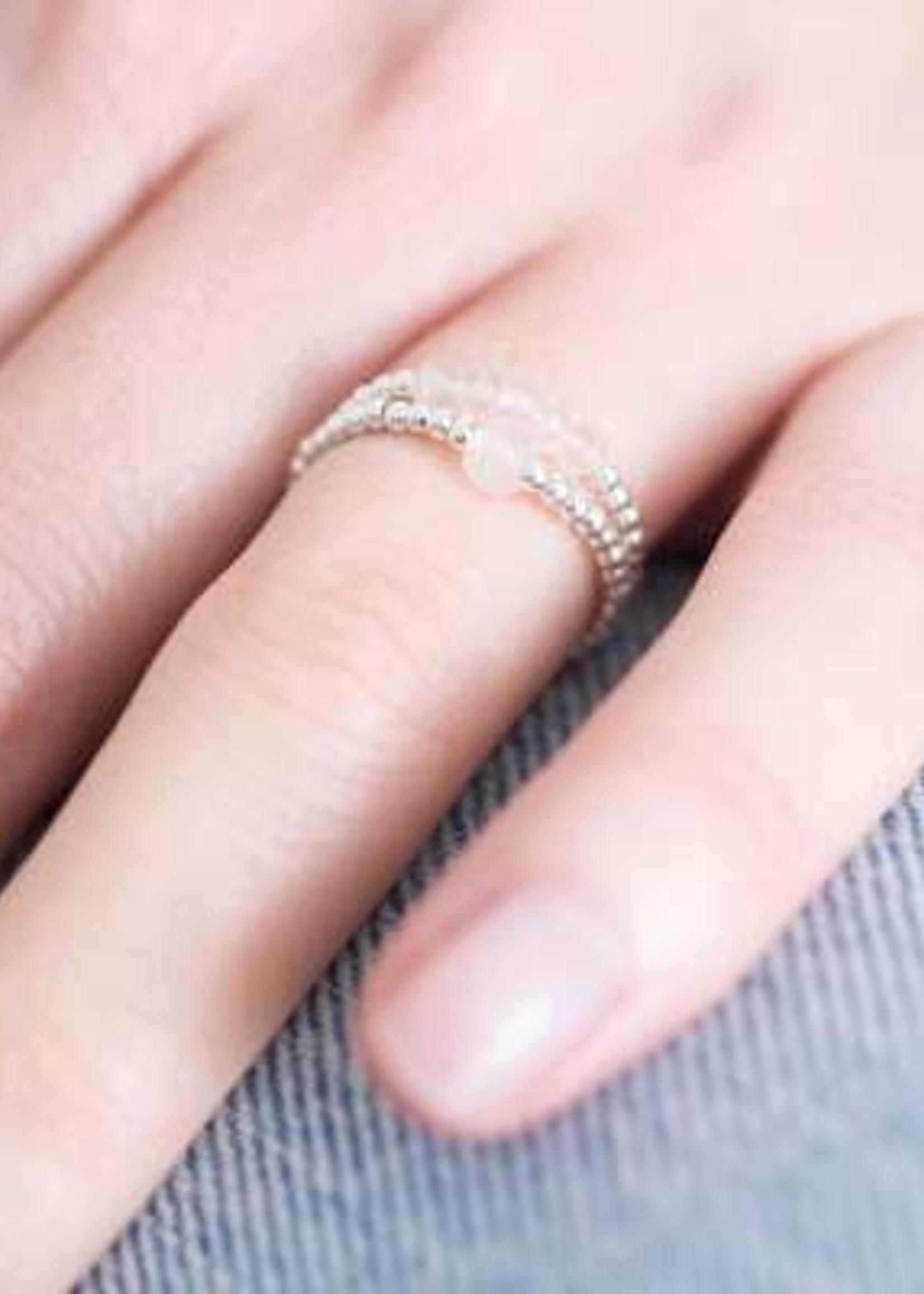 A Beautiful Story a Beautiful Story Beauty Rozenkwarts Ring M/L