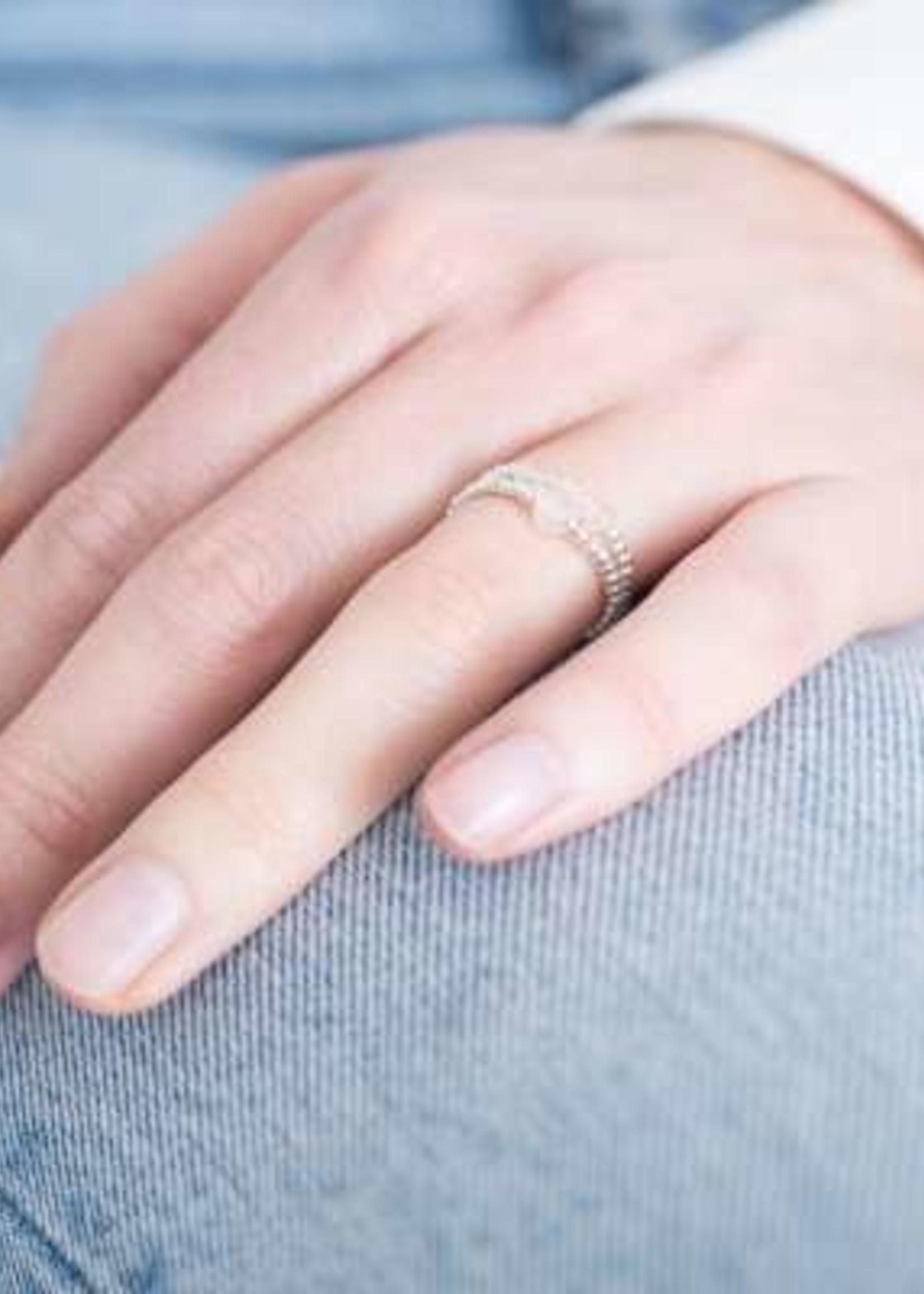 A Beautiful Story a Beautiful Story  Sparkle Rozenkwarts Ring M/L