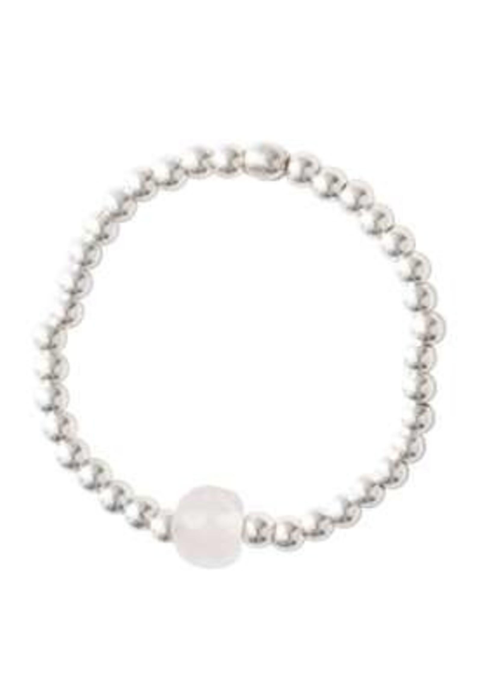 A Beautiful Story Sparkle Rose Quartz Ring M/L