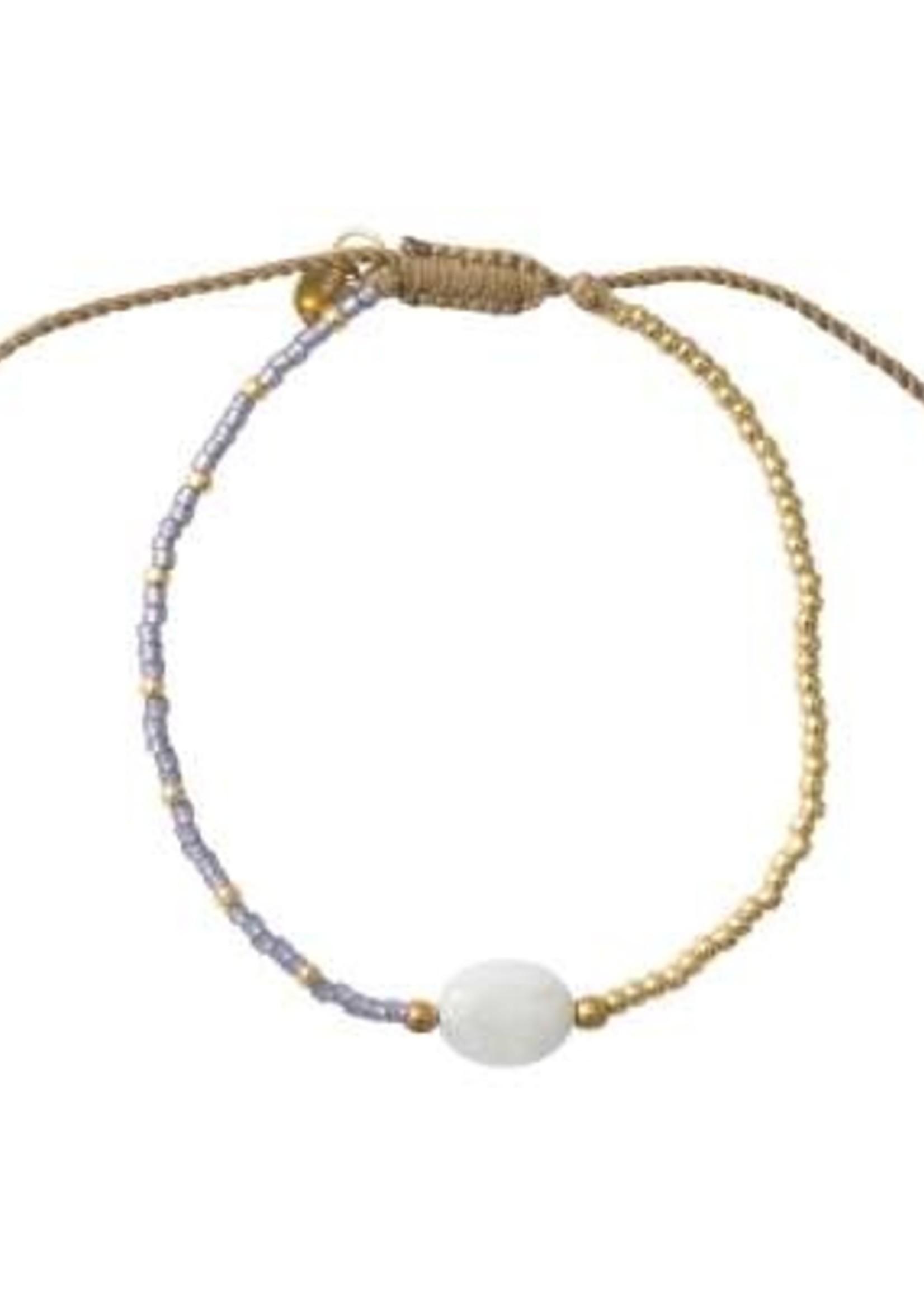 A Beautiful Story Ruby Moonstone Gold Bracelet