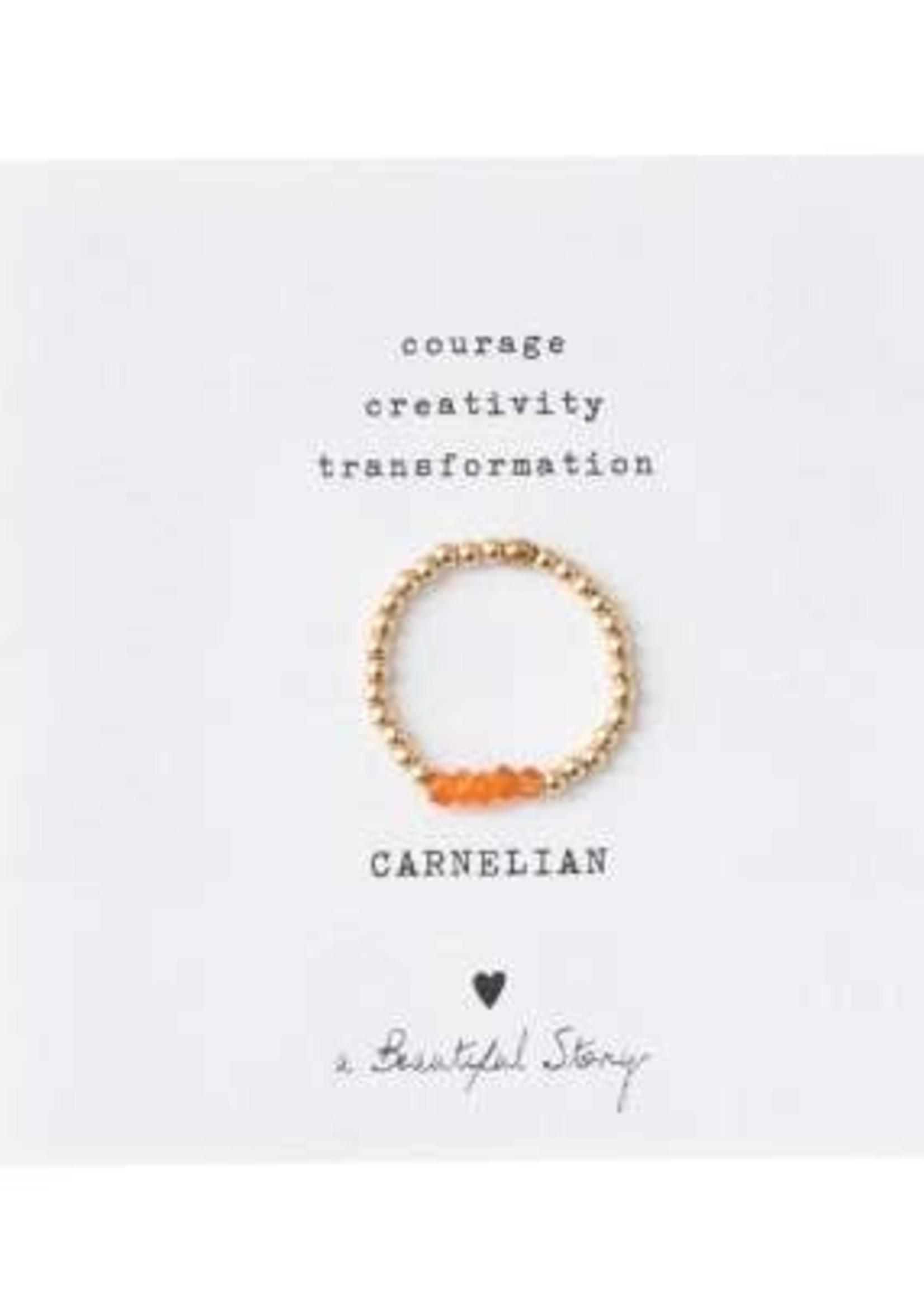 A Beautiful Story Beauty Carnelian Ring M/L