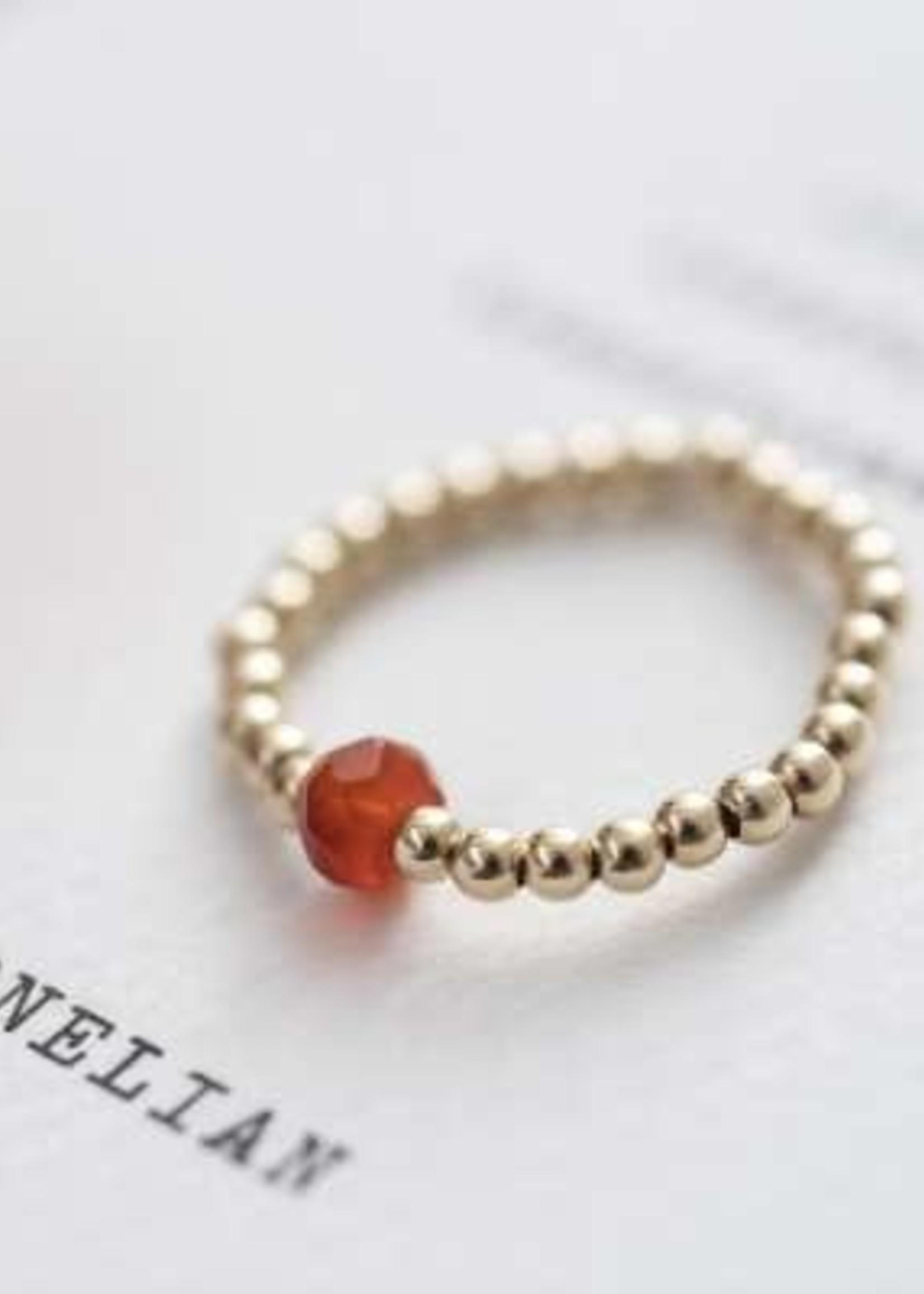 A Beautiful Story Sparkle Carnelian Ring M/L