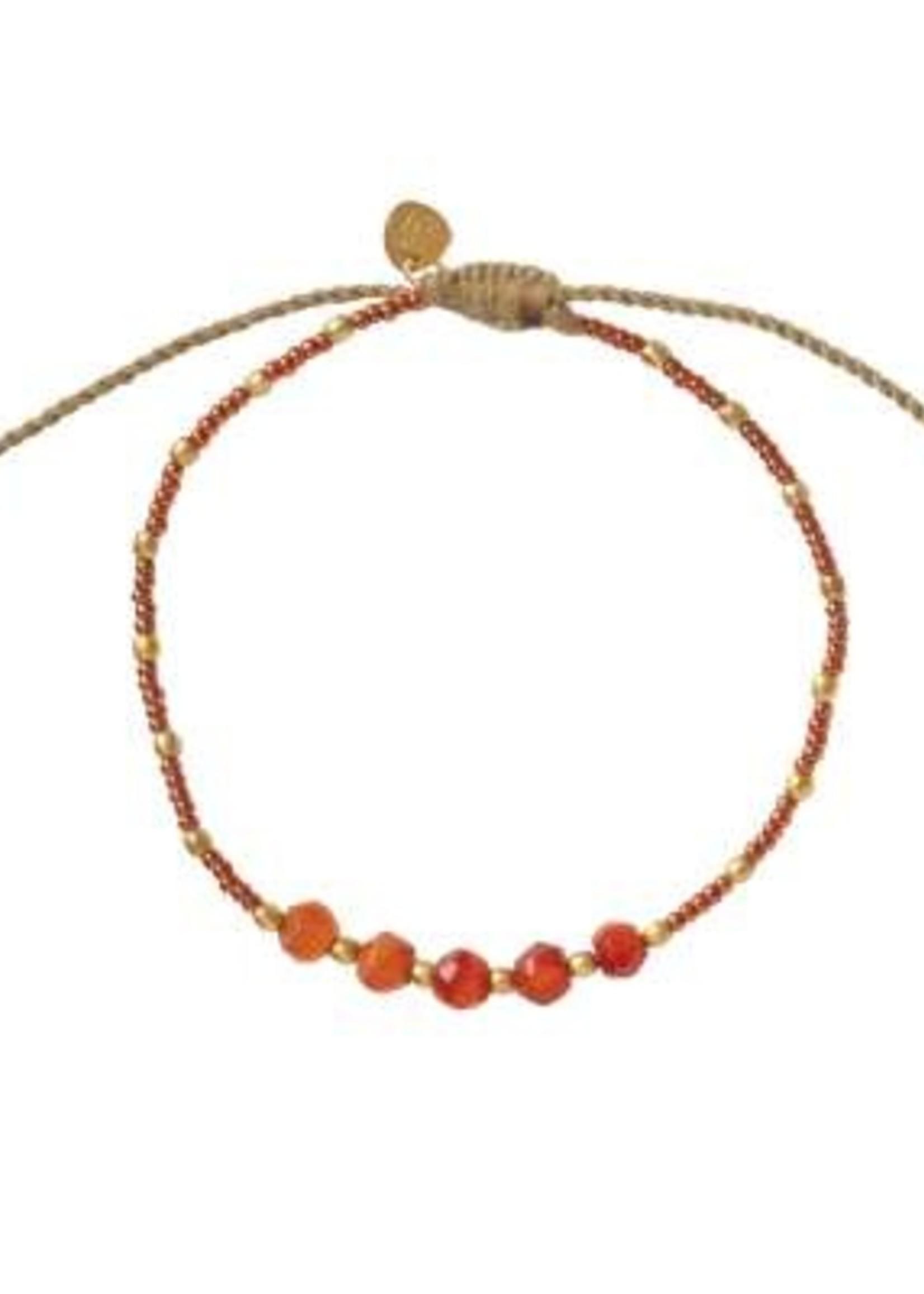 A Beautiful Story Family Carnelian Gold Bracelet