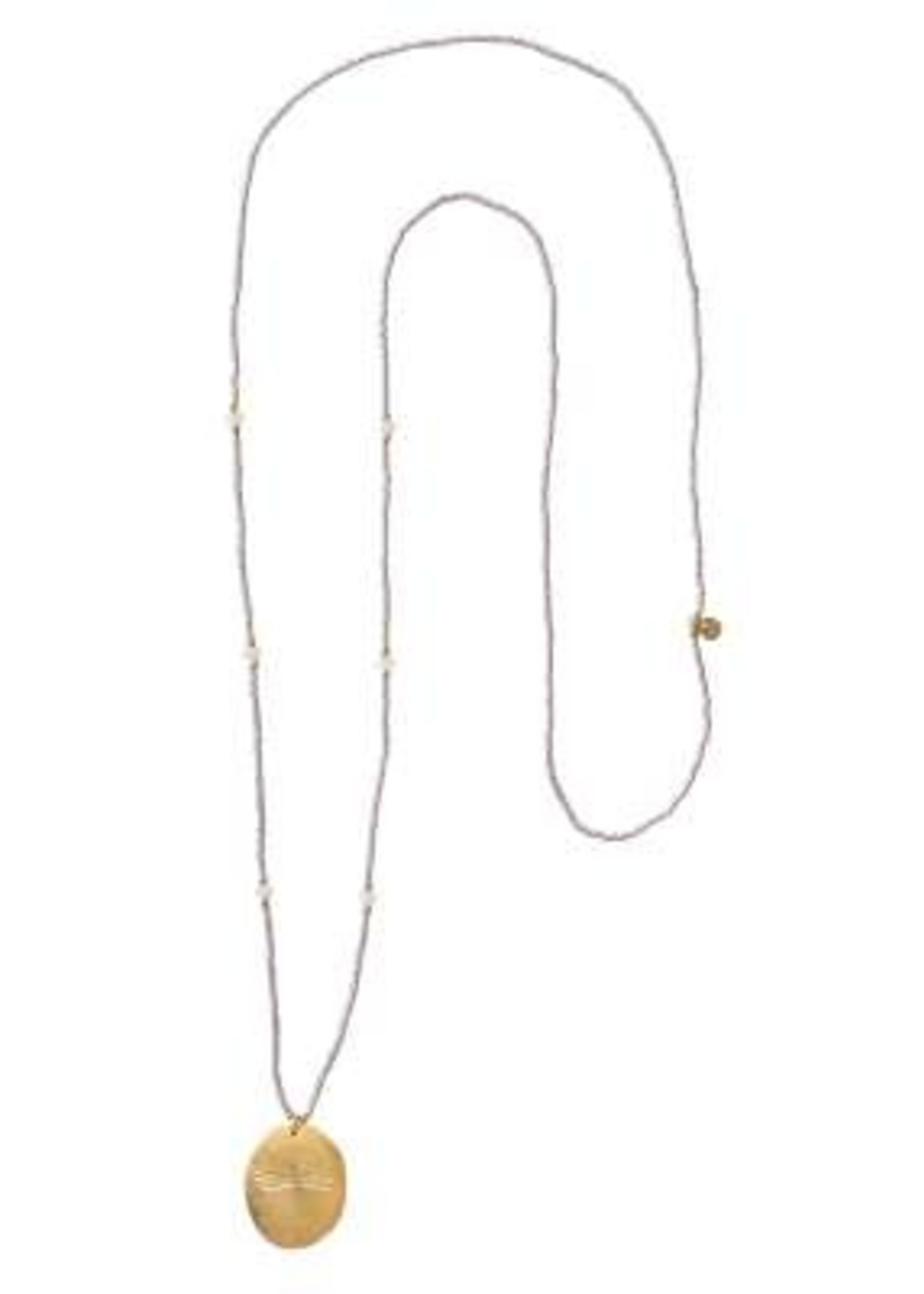 A Beautiful Story Swing Moonstone Gold Necklace