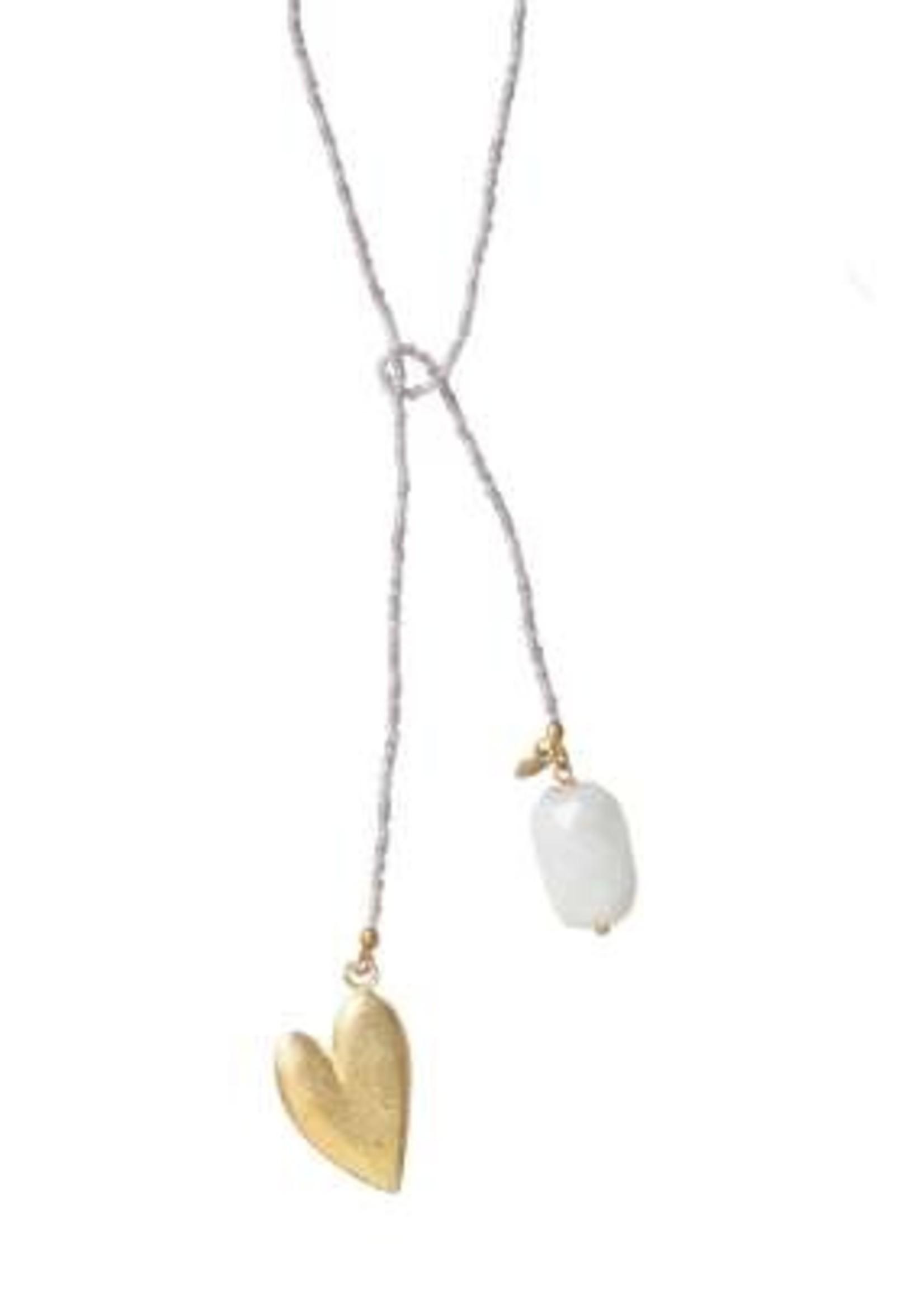 A Beautiful Story Nova Moonstone Gold Necklace