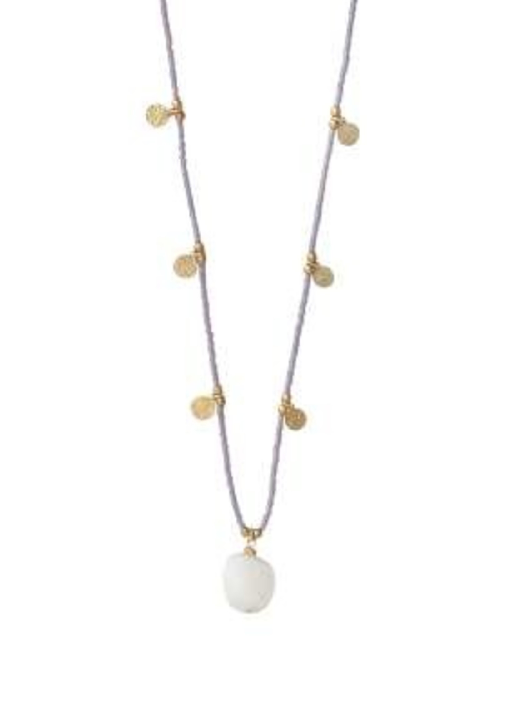 A Beautiful Story Charming Moonstone Gold Necklace