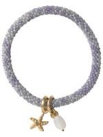 A Beautiful Story Jacky Multi Color Moonstone Gold Bracelet