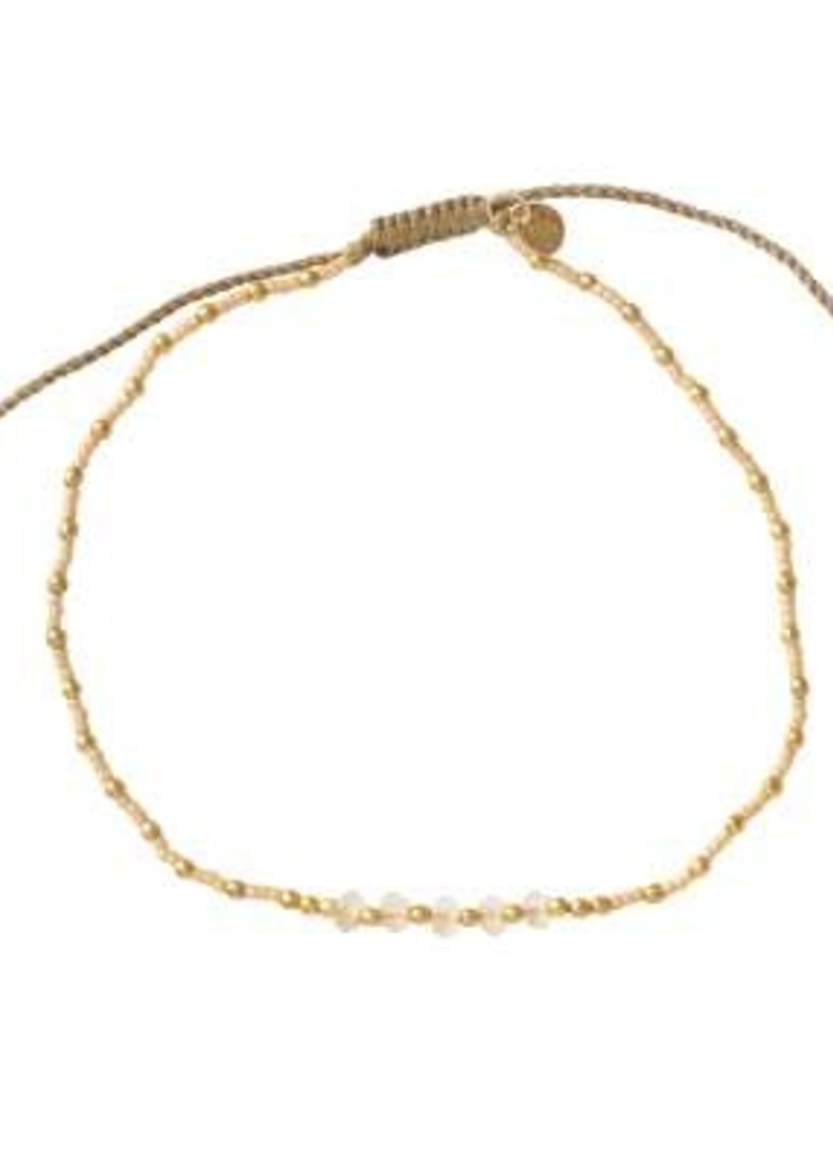 A Beautiful Story Confetti Citrine Gold Anklet