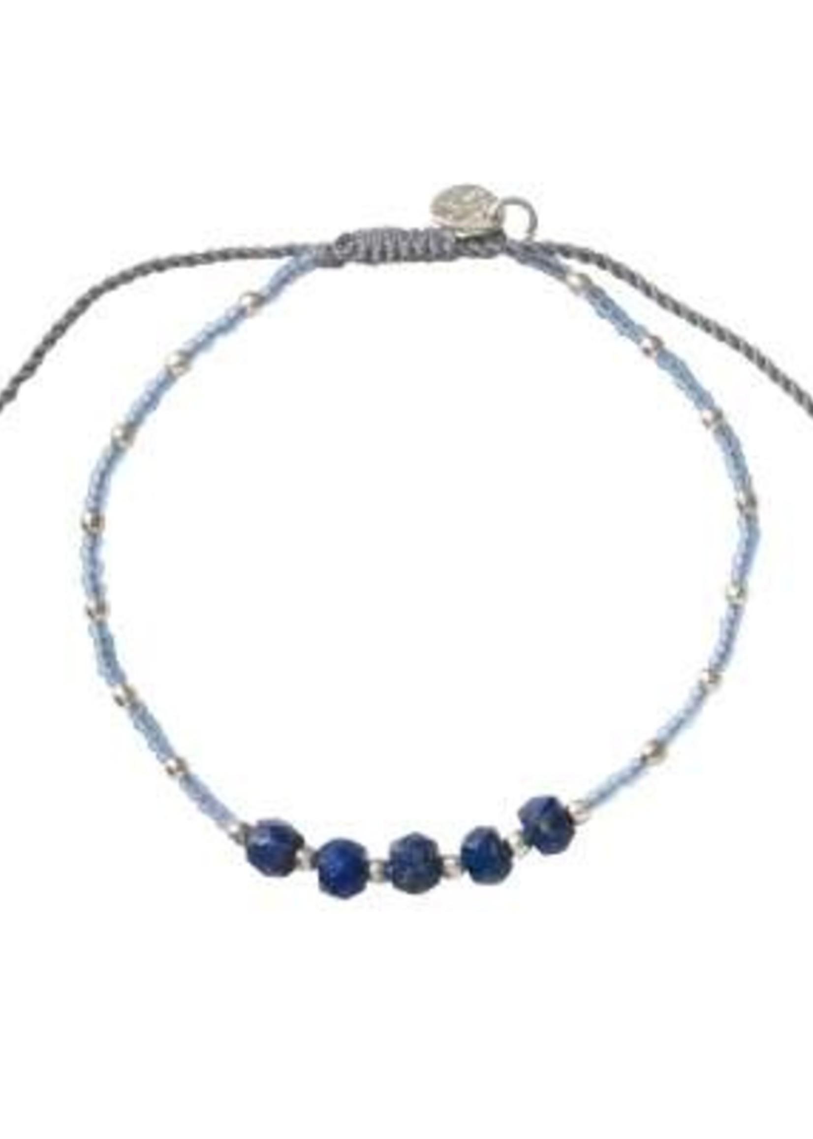 A Beautiful Story Family Lapis Lazuli Silver Bracelet