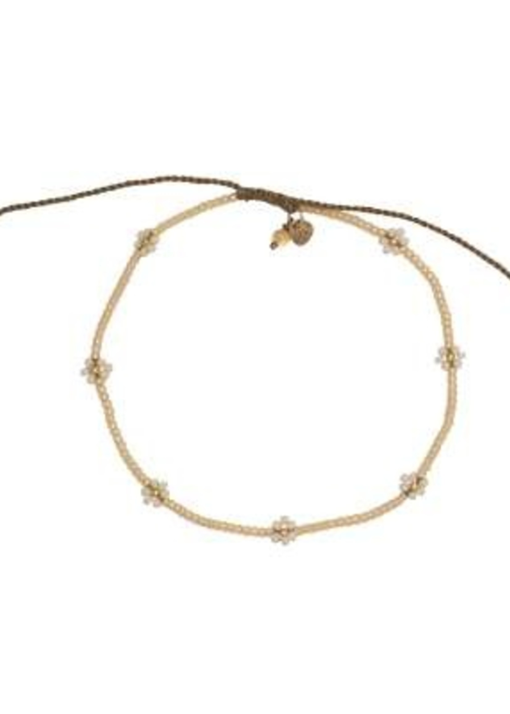 A Beautiful Story Daisy Citrine Gold Anklet