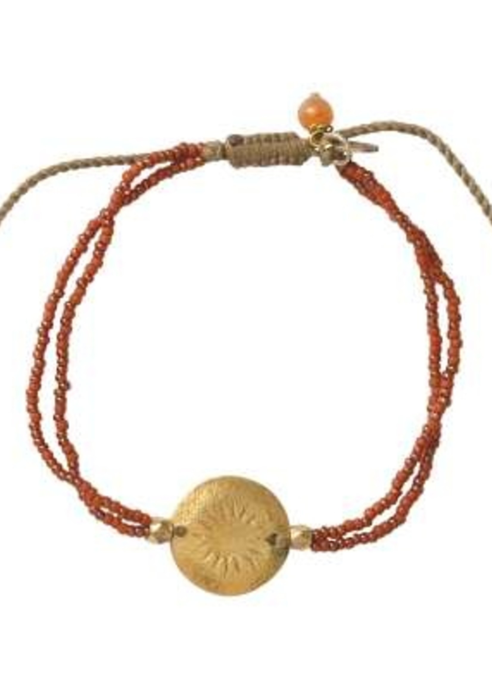 A Beautiful Story Daydream Carnelian Gold Bracelet