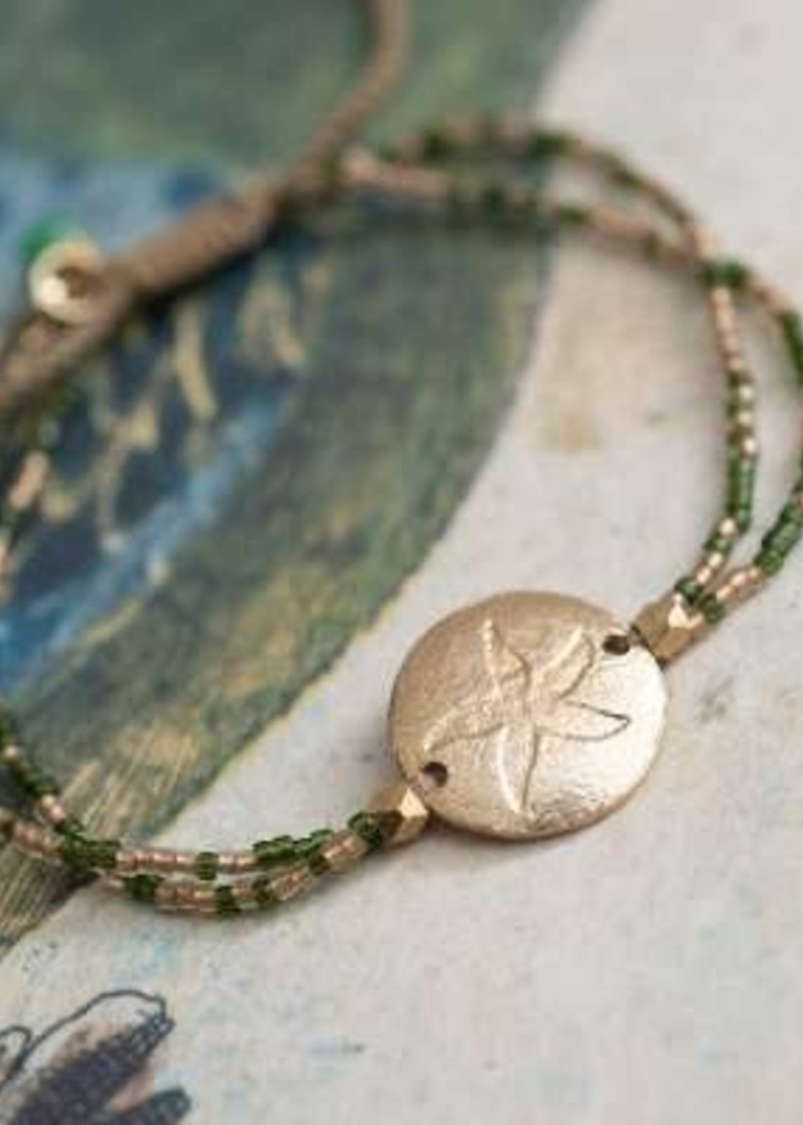 A Beautiful Story Daydream Aventurine Gold Bracelet