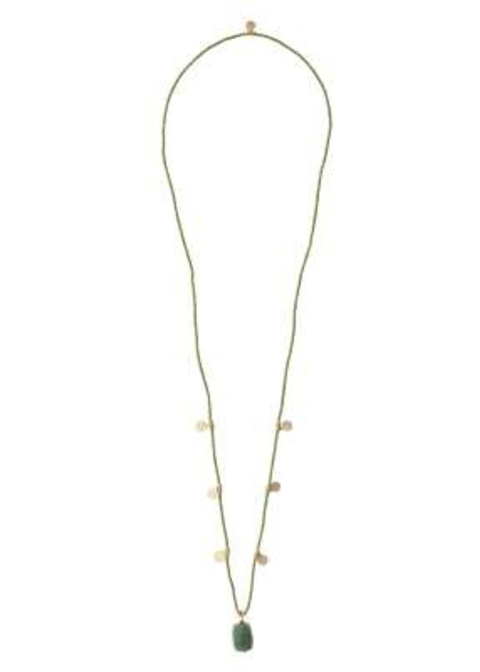 A Beautiful Story Charming Aventurine Gold Necklace