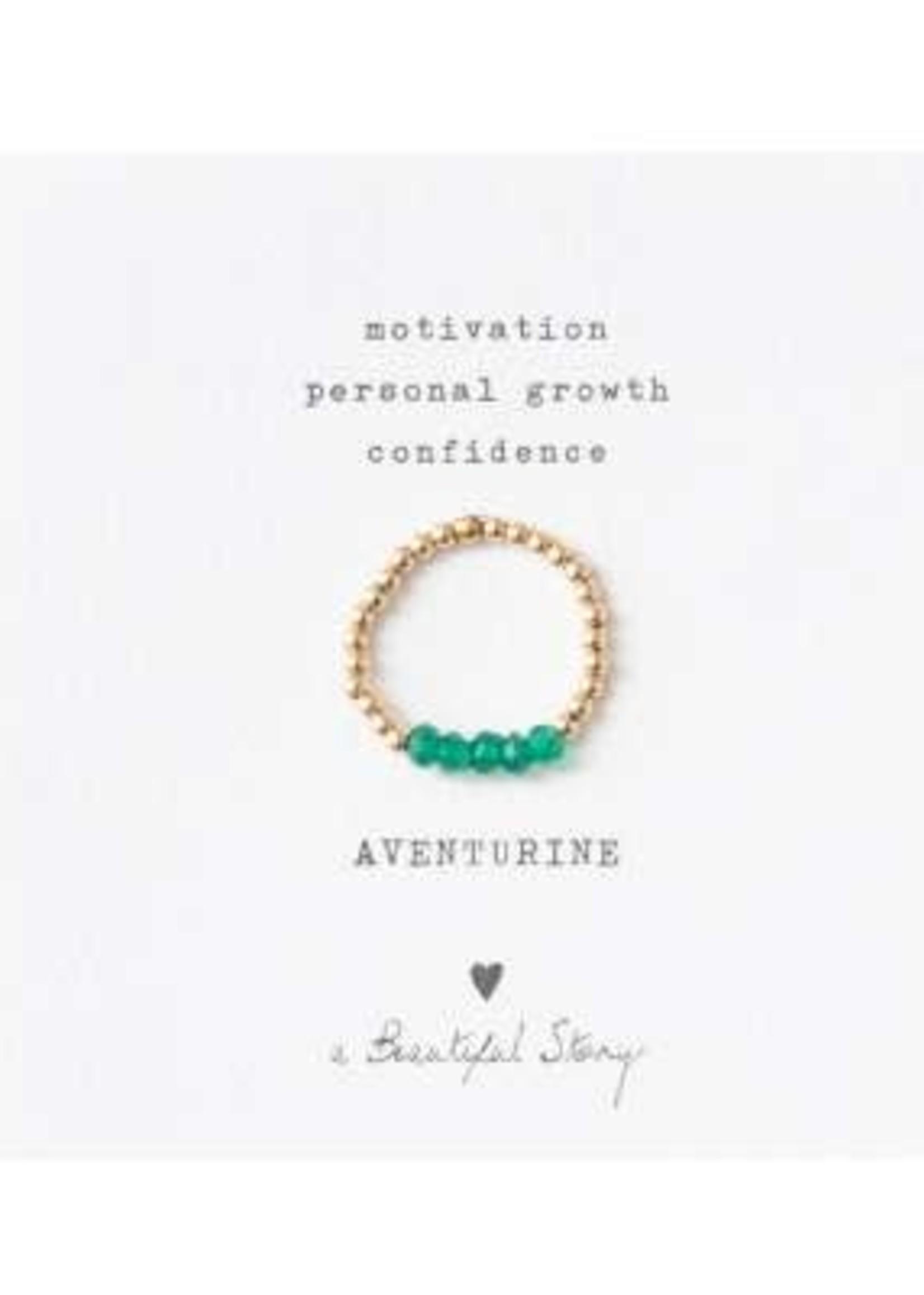 A Beautiful Story Beauty Aventurine Ring M/L