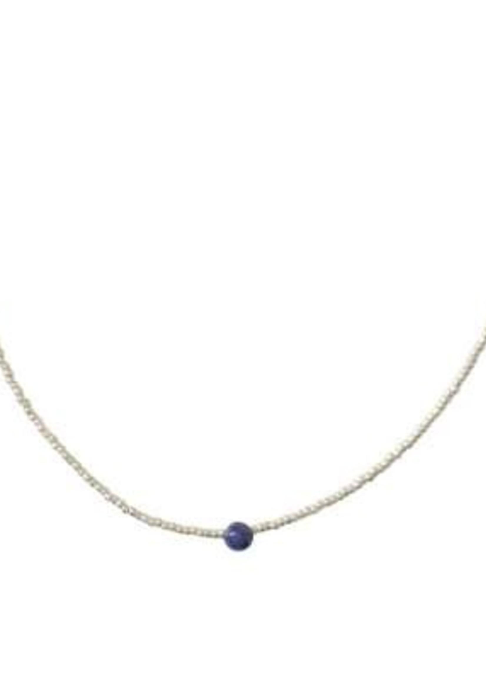 A Beautiful Story Flora Lapis Lazuli Silver Necklace