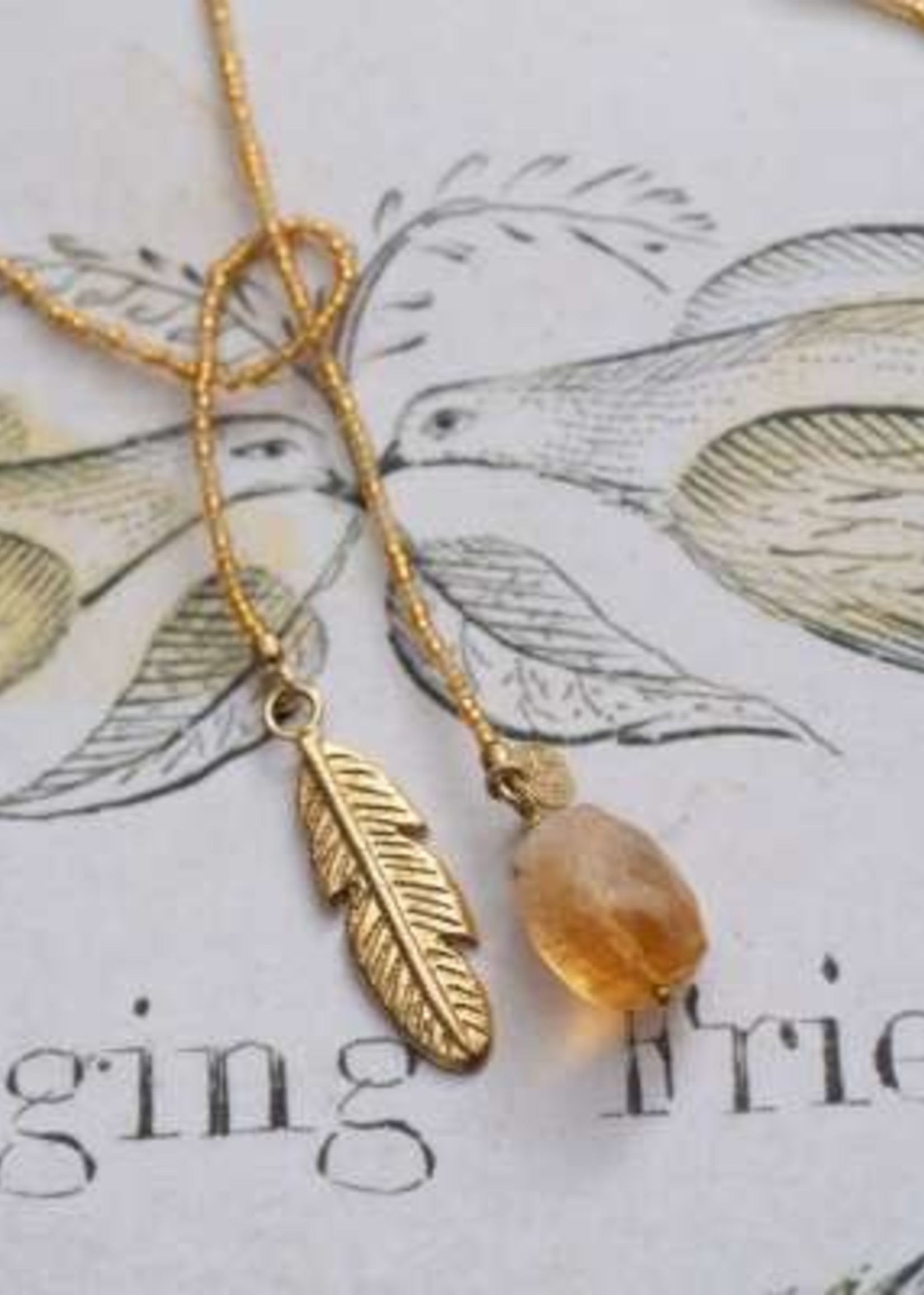 A Beautiful Story Nova Citrine Gold Necklace