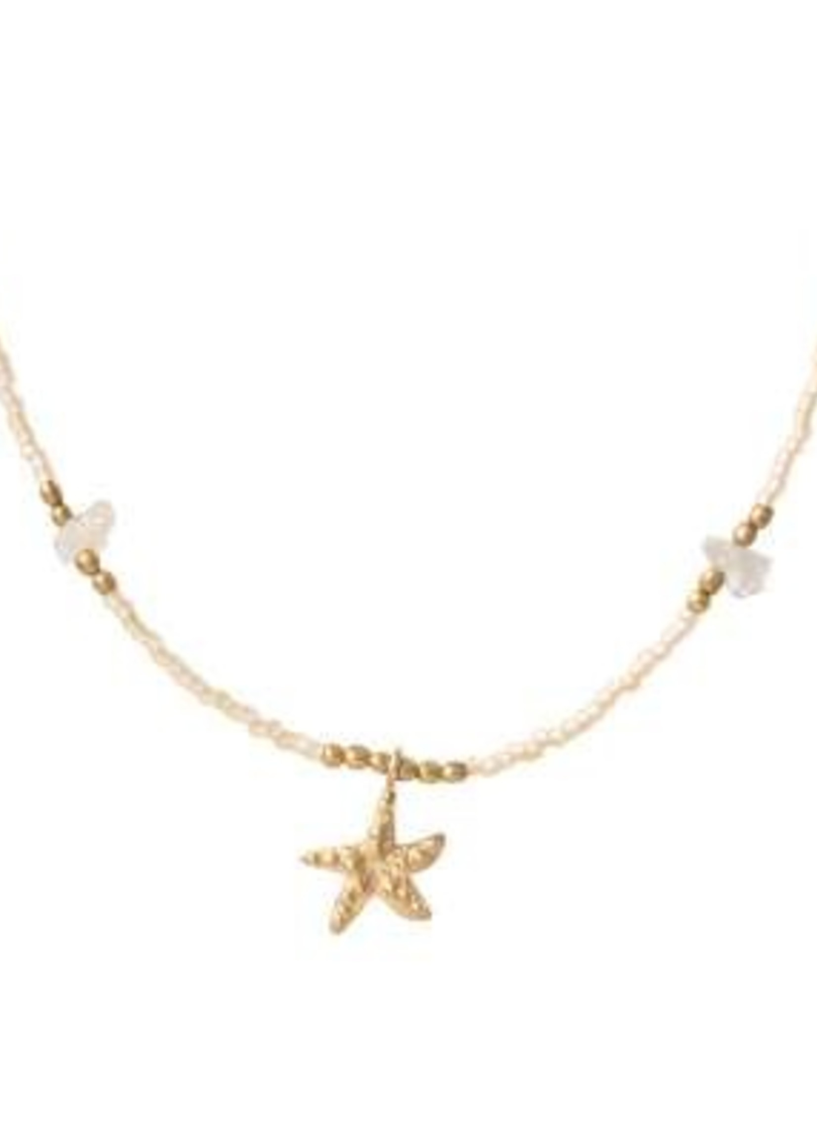 A Beautiful Story Wildflower Citrine Gold Necklace