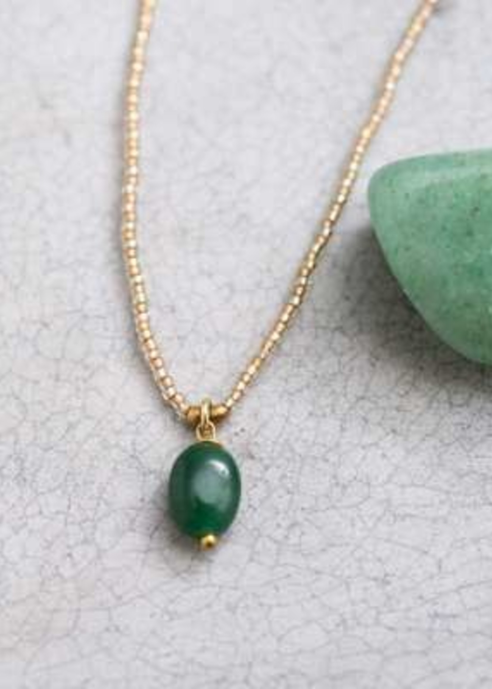 A Beautiful Story Magical Aventurine Gold Necklace