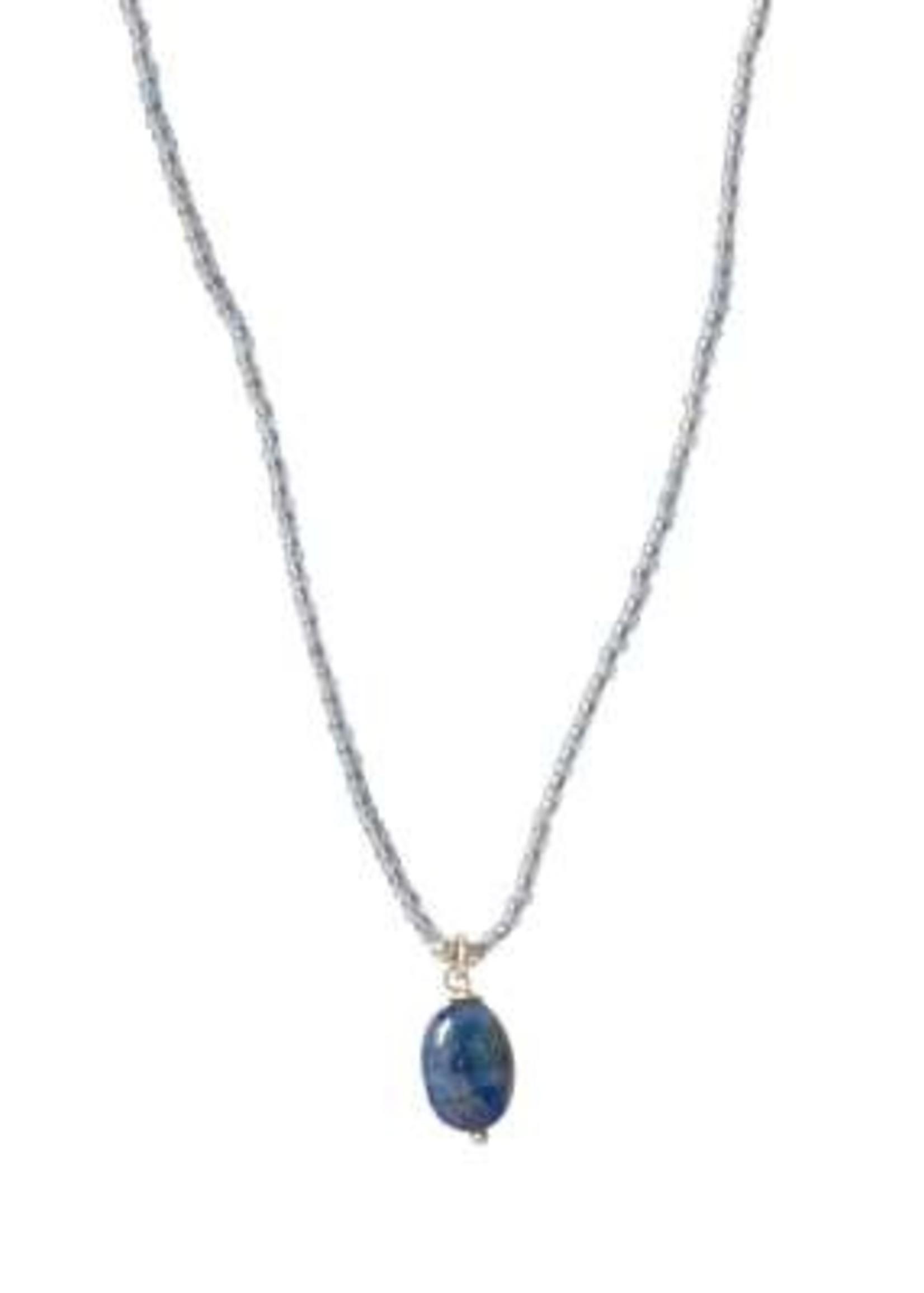 A Beautiful Story Magical Lapis Lazuli Silver Necklace